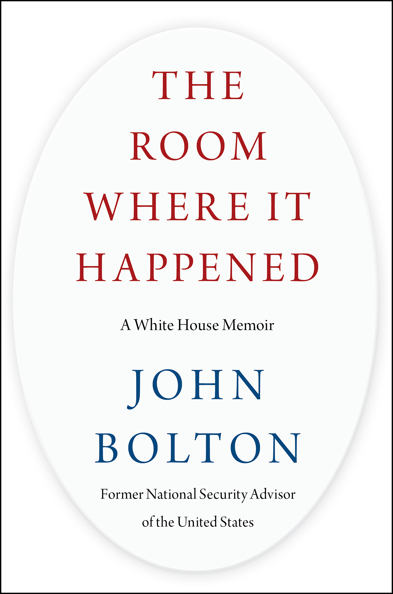 The Room Where It Happened:A White House Memoir